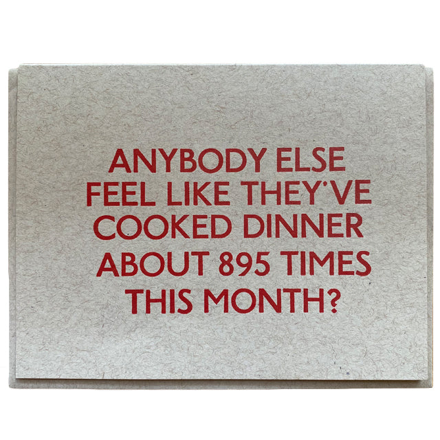 Dinner 895 Times Card