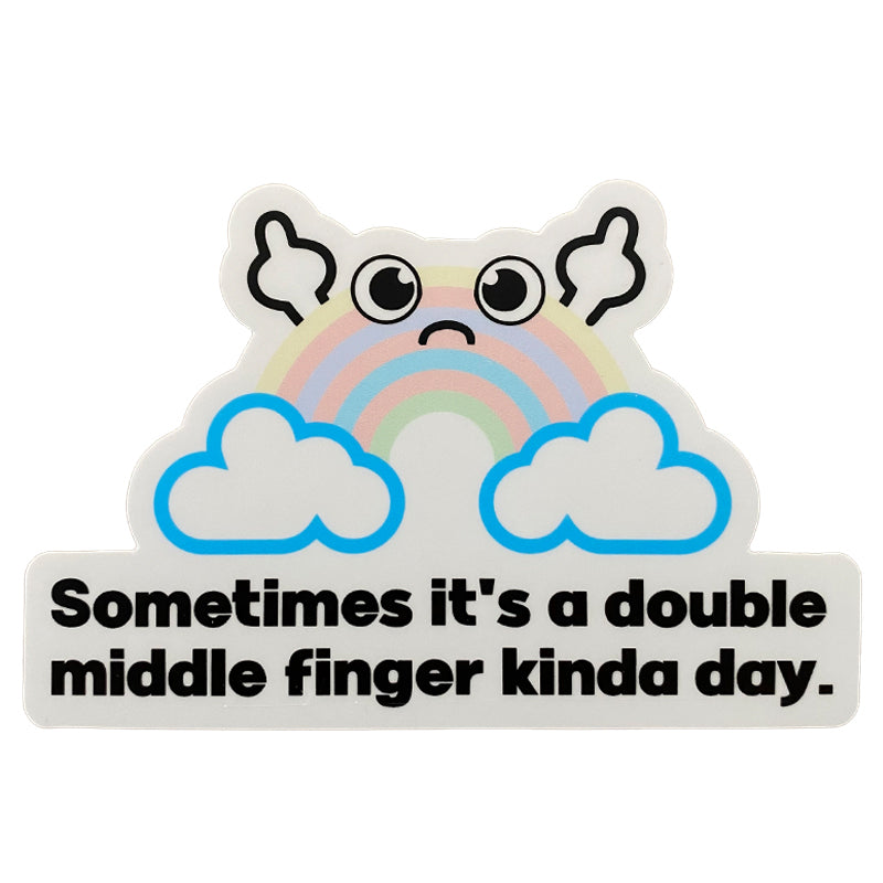Double Middle Finger Sticker