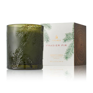 Frasier Fir Molded Glass Poured Candle
