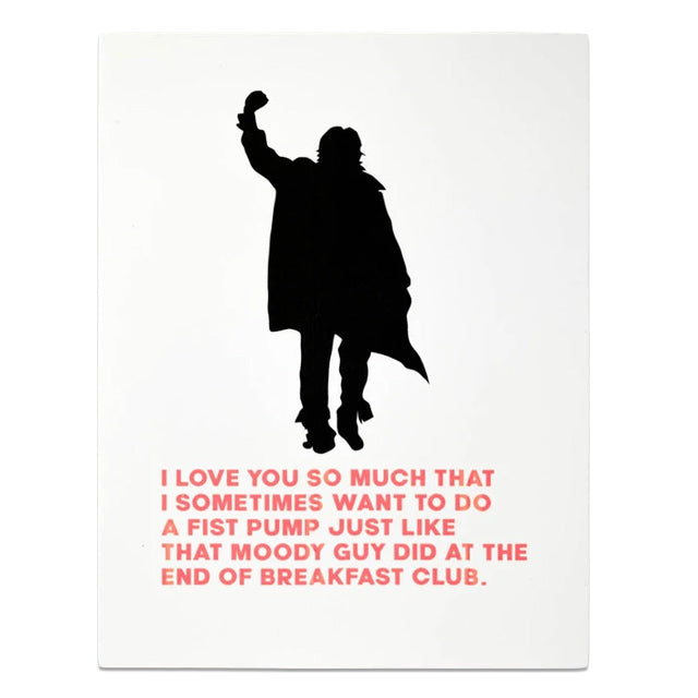 Breakfast Club Fist Pump Card