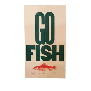 Go Fish Letterpress Print