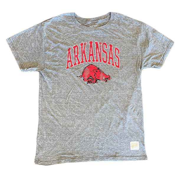 U of A Hairy Hog Raglan | Deep Red