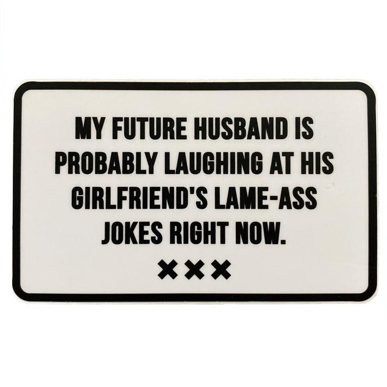 My Future Husband Sticker