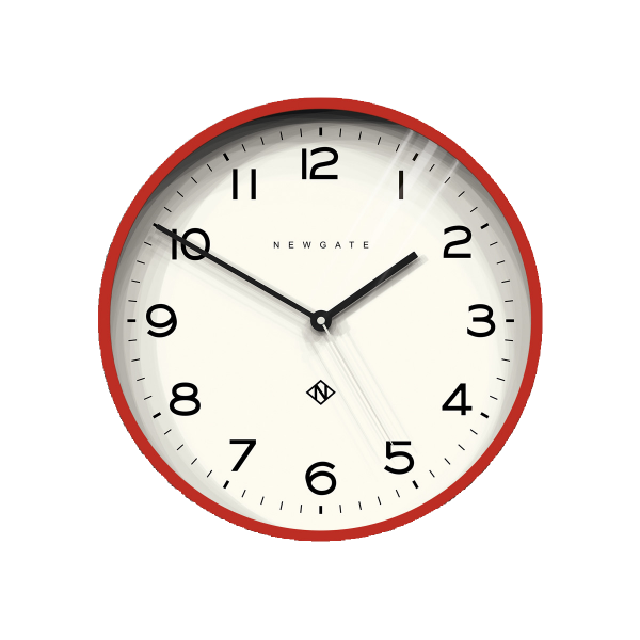 Number Three Echo Clock | Red