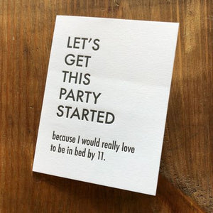 Get This Party Started Card