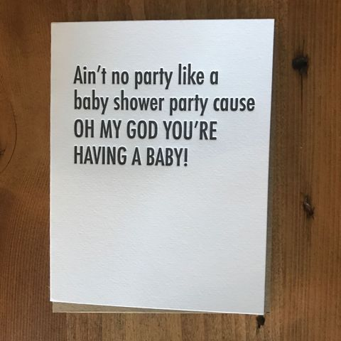 OMG Baby Shower Card
