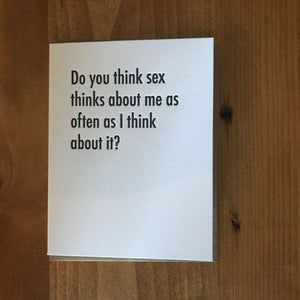 Sex Thoughts Card