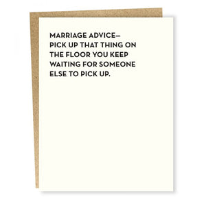 Marriage Advice Card