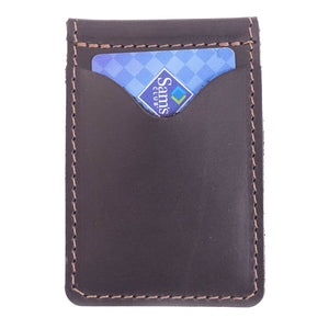 Money Clip Leather Wallet | Black