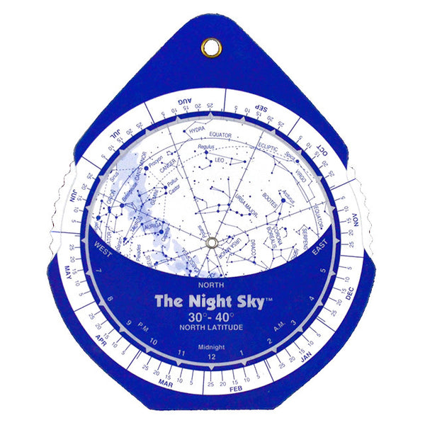 The Night Sky Planisphere 30°- 40° N