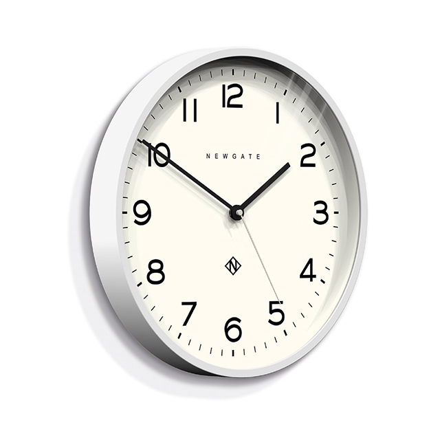 Number Three Echo Clock | Pebble White