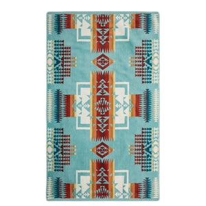 Oversized Jacquard Towel | Chief Joseph Aqua