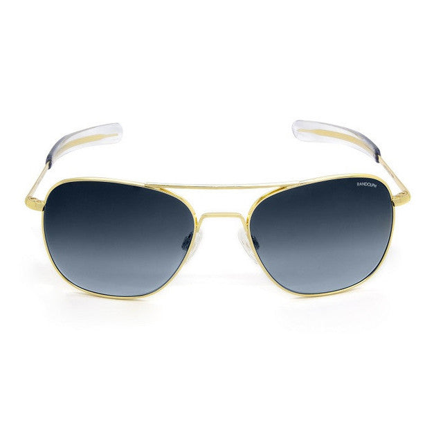 Aviator | 23K Gold with Blue Gradient Lens