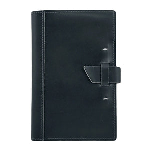 Small Leather Pad Portfolio | Black