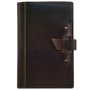 Small Leather Pad Portfolio | Burgundy