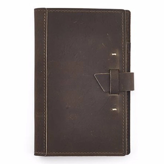 Small Leather Pad Portfolio | Dark Brown