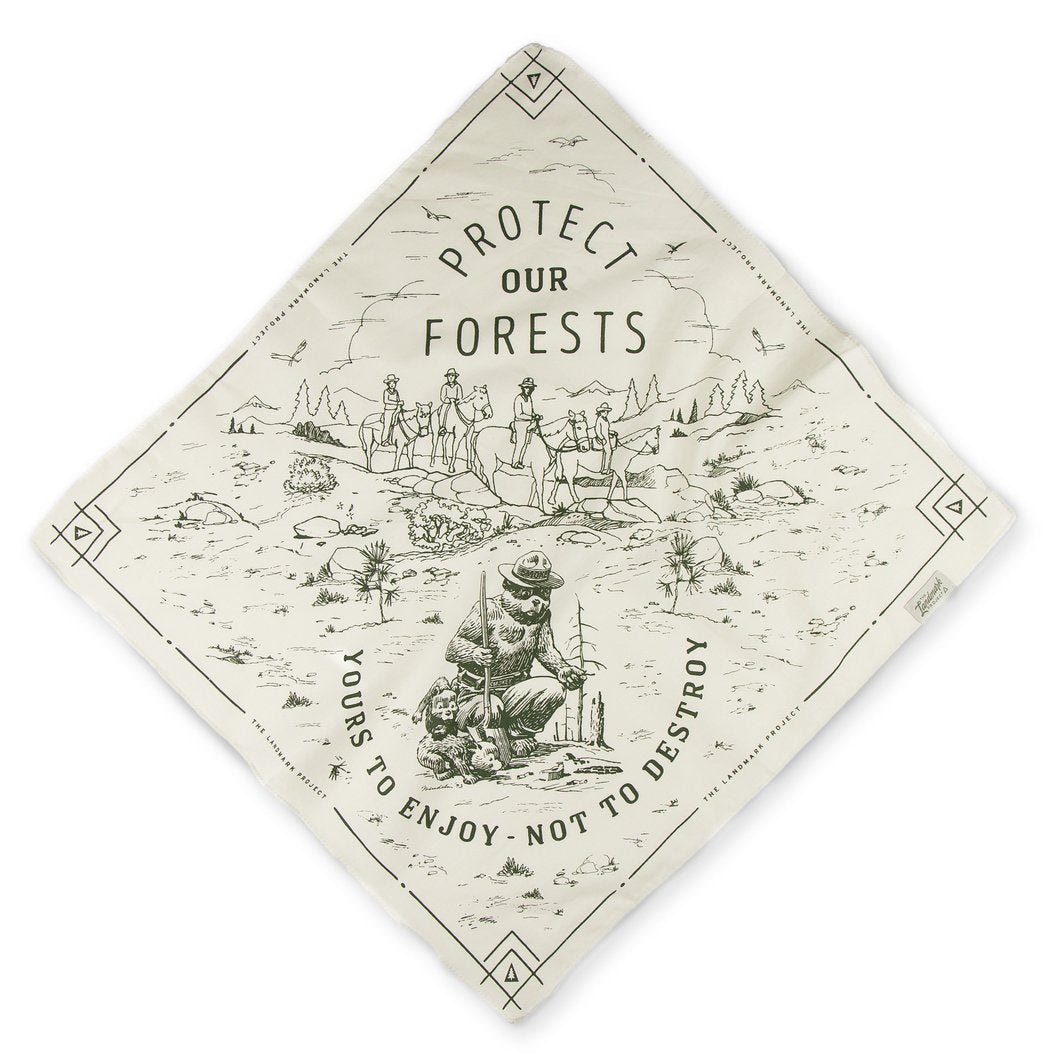 Smokey the Bear Protect Our Forest Bandana