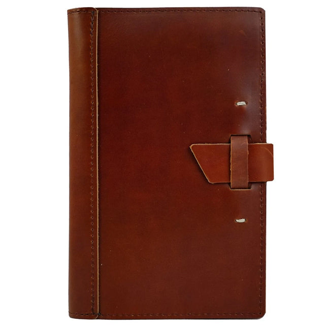 Small Leather Pad Portfolio | Saddle