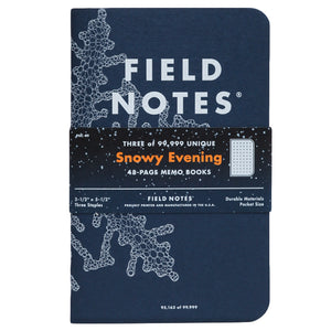 Limited Edition Snowy Evening Memo Books