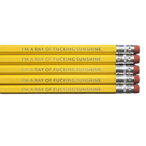 Ray of F-Ing Sunshine Pencils