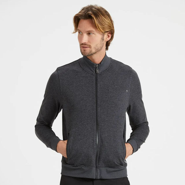 Ponto Track Jacket | Heather Charcoal