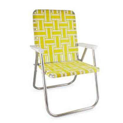 Lawn Chair | Yellow Stripe Deluxe