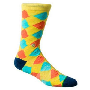 Argyle State Sock | Banana