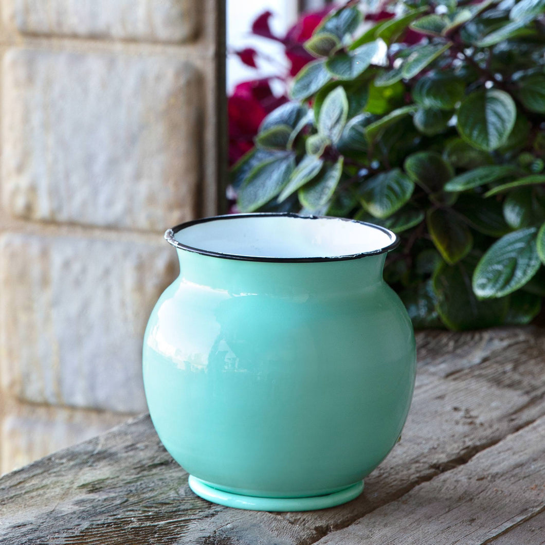 Enamel Bean Pot Vase