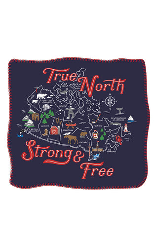 Canada Heritage Fleece Blanket Throw