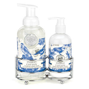 Caddy Soap/Lotion Indigo Cotton