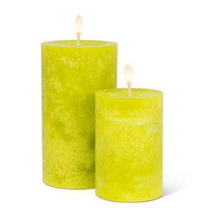 Candle Pillar Lime Green