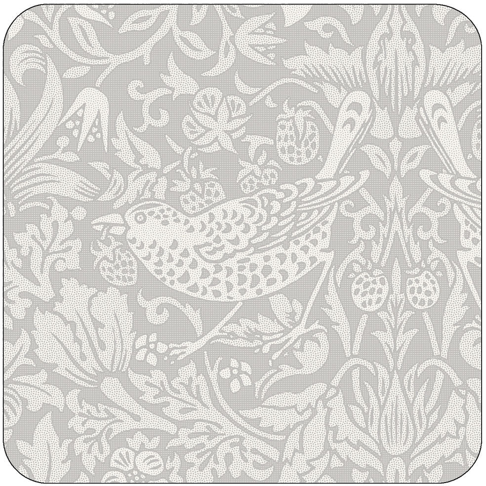 Coasters Strawberry Thief Pewter