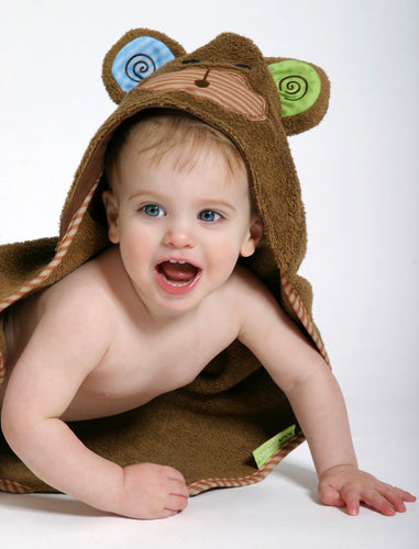 Max the Monkey Hooded Baby Towel