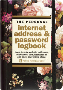 Internet Password Logbook Midnight Floral
