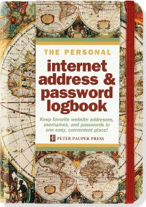 Internet Password Logbook Old World Map