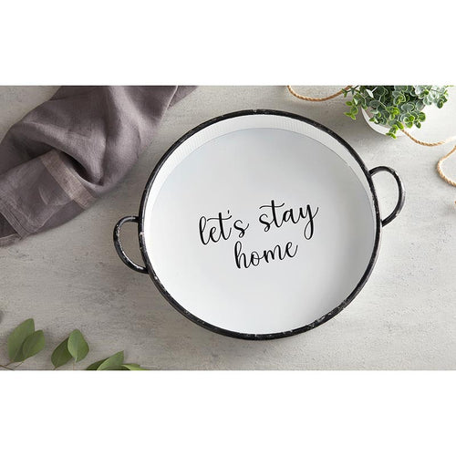 Creative Brands Round Let's Stay Home Tray