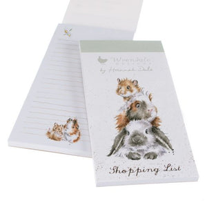 Wrendale 'Piggy in the Middle' Magnetic Listpad