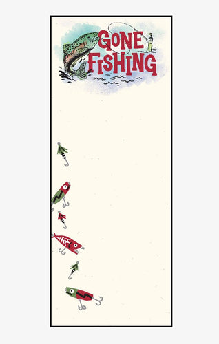 Hatley Little Blue House Gone Fishing Magnetic Listpad