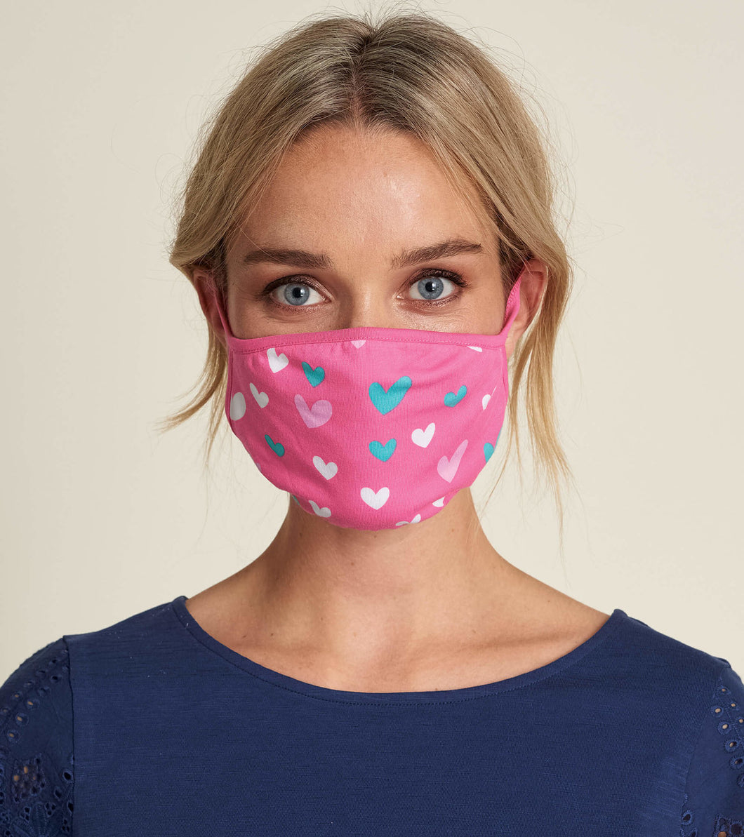 Face Mask Adult Hearts