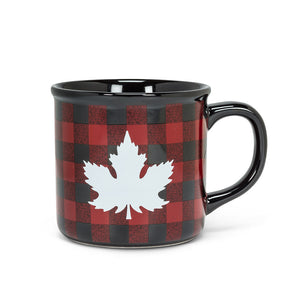 Abbott Maple Leaf Check Mug