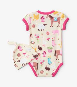 Country Living Pasture Bedtime Onesie
