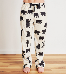 Bears on Natural Men's Flannel Pants