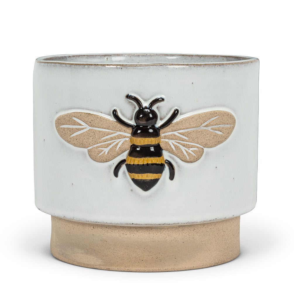 Embossed Bee Planter