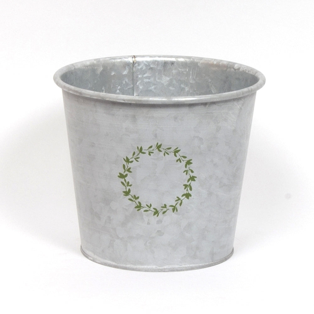 Whitewashed Galvanized Planter