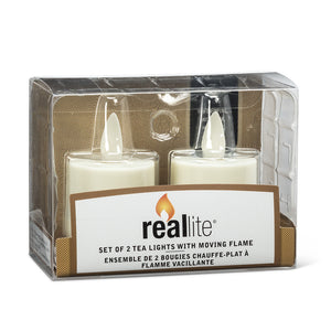 Ivory Reallite Flameless Tealights