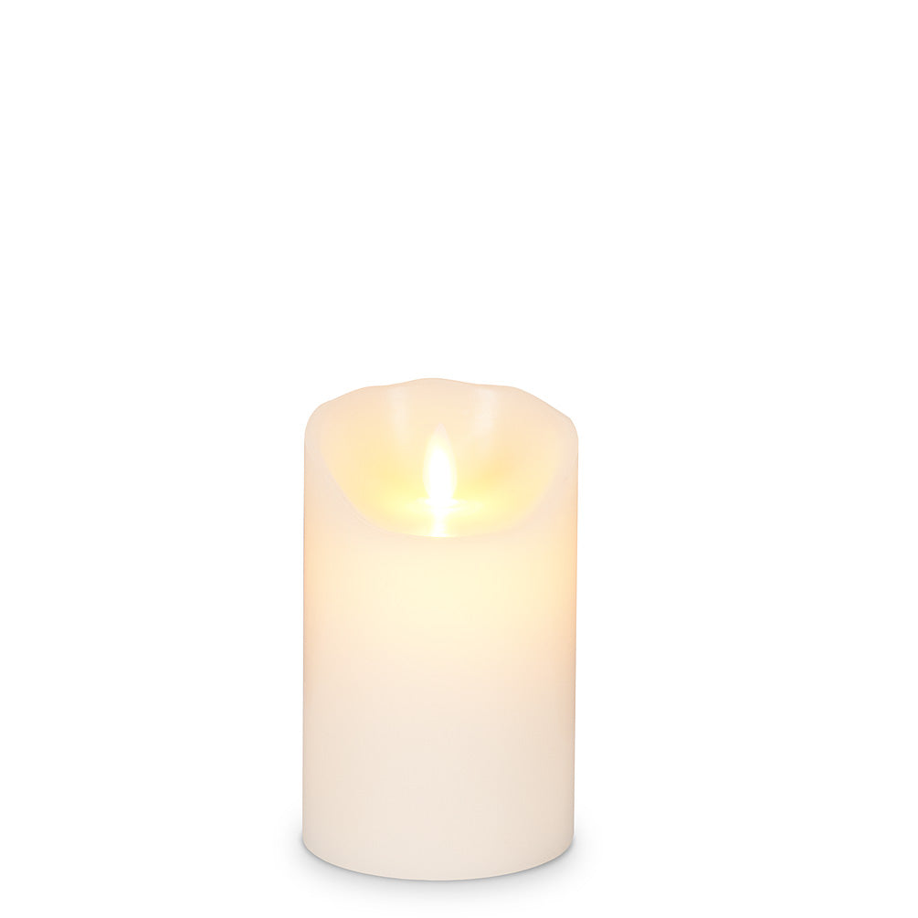 Ivory Reallite Flameless Pillar Candle
