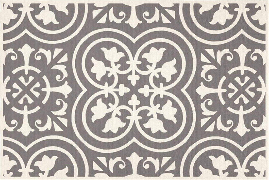 Grey Tile Detail Rug