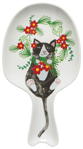 Spoon Rest Meowy Christmas