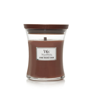 WoodWick Candle Jar - Stone Washed Suede