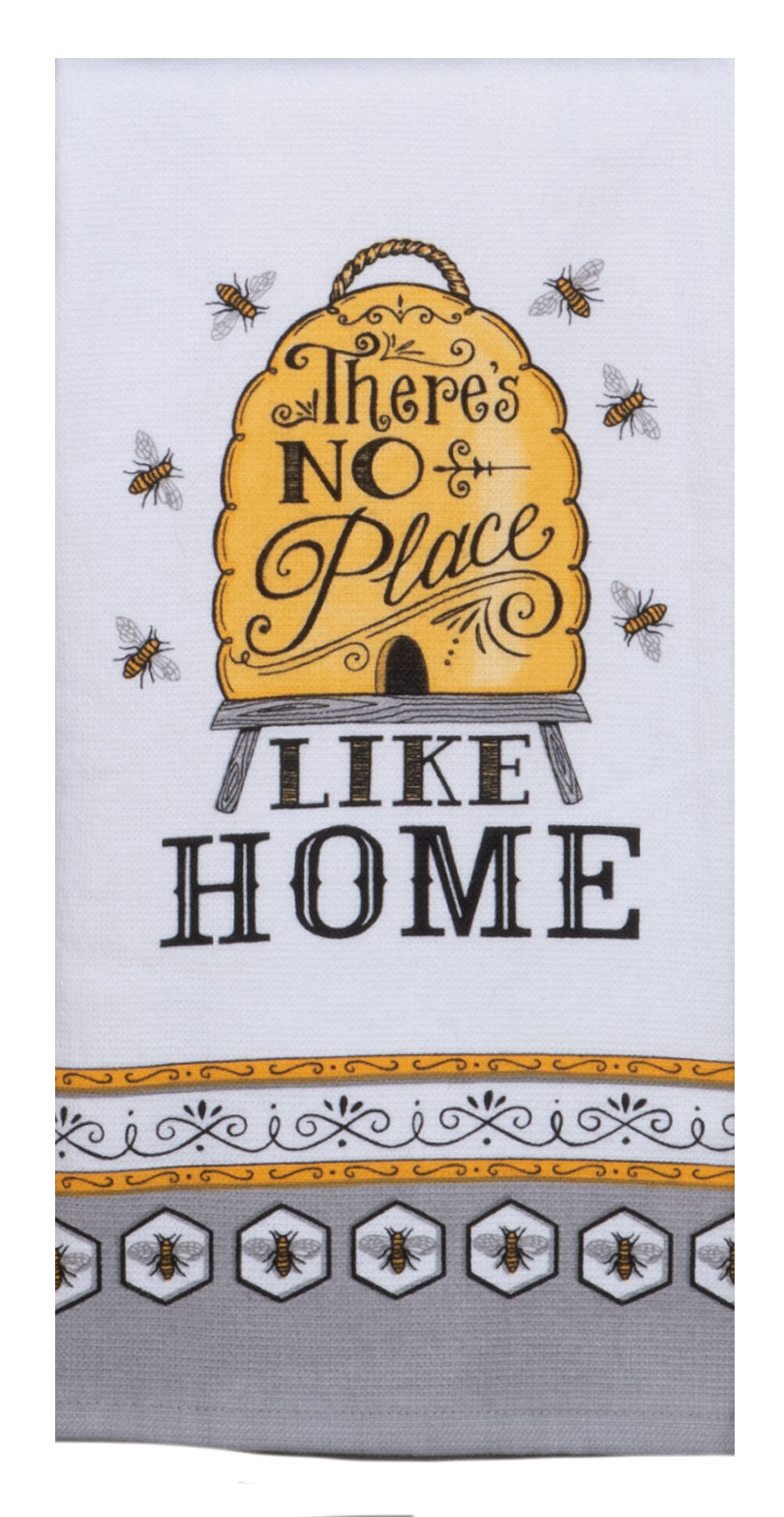 Just Bees No Place Like Home Dual Purpose Teatowel
